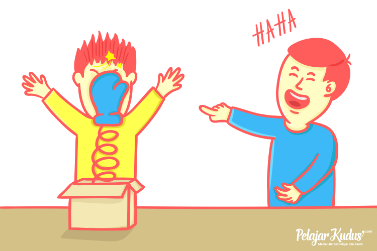 Ilustrasi Fenomena Prank Jadi Konten Timbulkan Bahaya Schadenfreude [Pelajarkudus.com/Ilham Azizi]