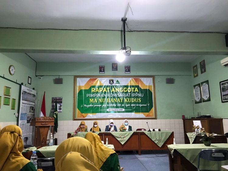 Rapat Anggota Pimpinan Komisariat MA Banat Kudus pada Senin (30/08/2021)